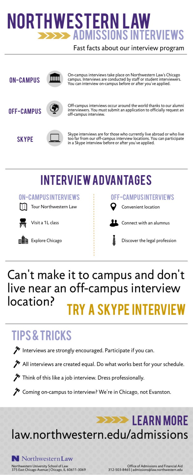 Northwestern Law Interviews