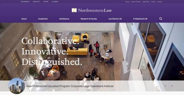 A New Look for the Northwestern Law Website! | Northwestern